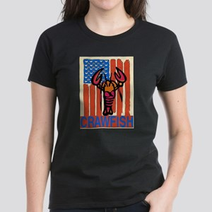 Peace Love Crawfish Flag T-Shirt