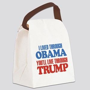 You'll Live Through Trump Canvas Lunch Bag