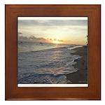 Punta Cana Sunrise Framed Tile