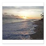 Punta Cana Sunrise Square Car Magnet 3