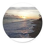 Punta Cana Sunrise Round Car Magnet