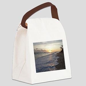 Punta Cana Sunrise Canvas Lunch Bag