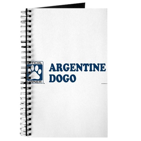 ARGENTINE DOGO Journal