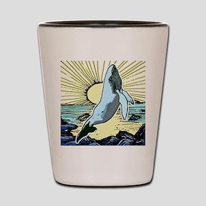 Morning sun whale Shot Glass