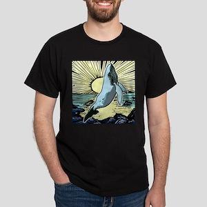 Morning sun whale Dark T-Shirt