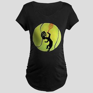Kokopelli Tennis Maternity Dark T-Shirt