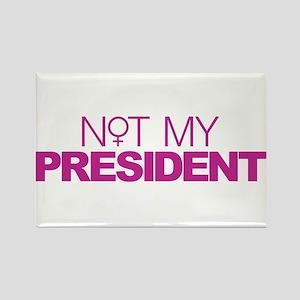 Not My President Women Rectangle Magnet