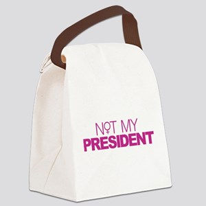 Not My President Women Canvas Lunch Bag
