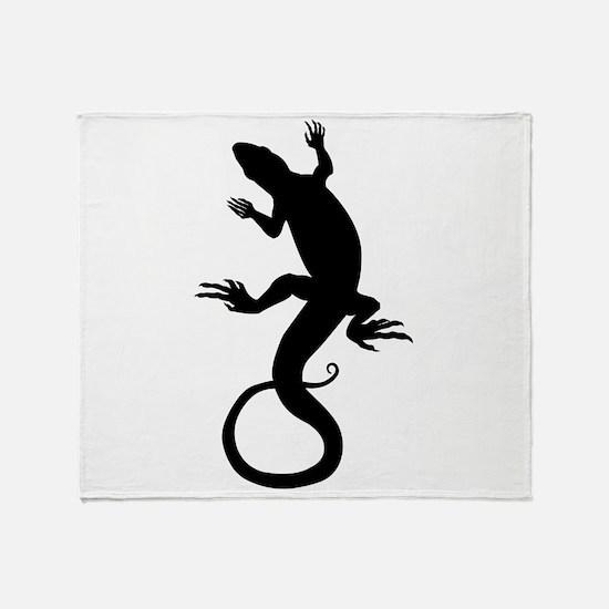 Lizard Art Throw Blanket