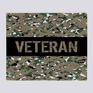 Veteran (Camouflage) Throw Blanket