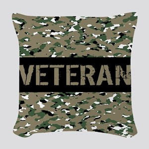 Veteran (Camouflage) Woven Throw Pillow