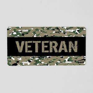 Veteran (Camouflage) Aluminum License Plate