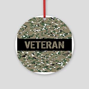 Veteran (Camouflage) Round Ornament