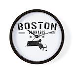 Boston Cannabis Wall Clock