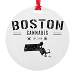 Boston Cannabis Round Ornament