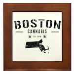Boston Cannabis Framed Tile