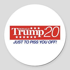 Donald Trump '20 Round Car Magnet