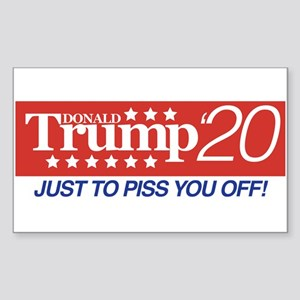 Donald Trump '20 Sticker (Rectangle)