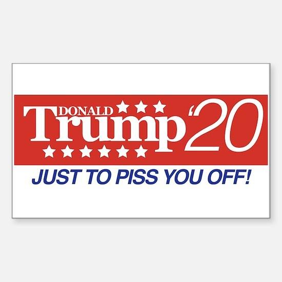 Donald Trump '20 Sticker (Rectangle)