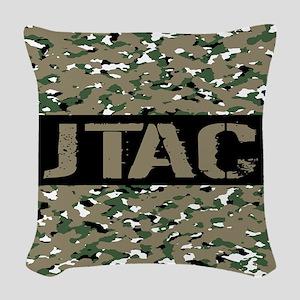 U.S. Air Force: JTAC (Camoufla Woven Throw Pillow
