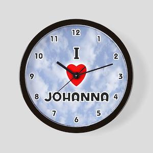 I Love Johanna (Black) Valentine Wall Clock