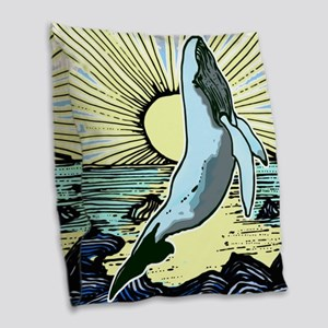 Sun Shine whale 2 Burlap Throw Pillow