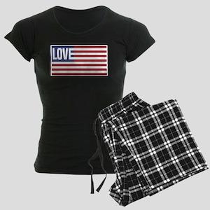 Love America Women's Dark Pajamas