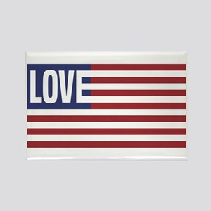 Love America Rectangle Magnet