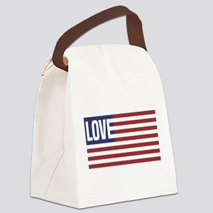 Love America Canvas Lunch Bag
