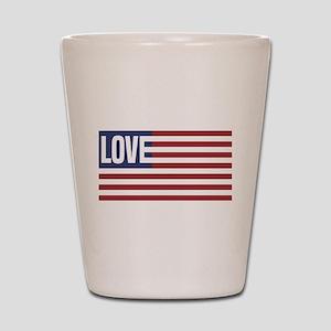 Love America Shot Glass
