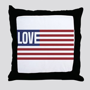 Love America Throw Pillow