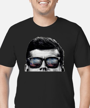 Unique John f. kennedy Men's Fitted T-Shirt (dark)