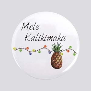 Mele Kalikimaka - Hawaiian Christmas Button