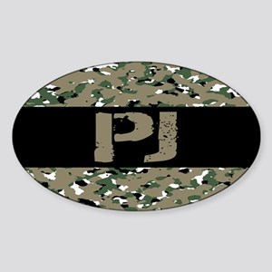 U.S. Air Force: PJ (Camouflage) Sticker (Oval)