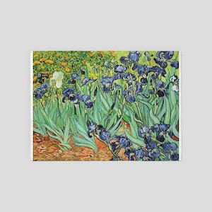 Irises by Van Gogh 5'x7'Area Rug