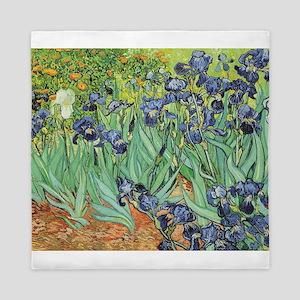 Irises by Van Gogh Queen Duvet