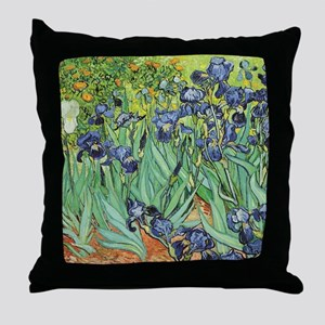 Irises by Van Gogh Throw Pillow
