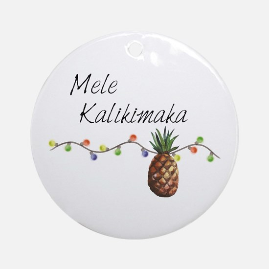 Mele Kalikimaka - Hawaiian Christma Round Ornament