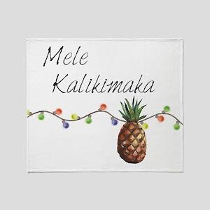 Mele Kalikimaka - Hawaiian Christmas Throw Blanket