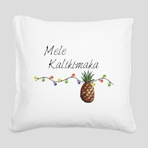 Mele Kalikimaka - Hawaiian Ch Square Canvas Pillow