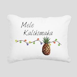 Mele Kalikimaka - Hawaii Rectangular Canvas Pillow