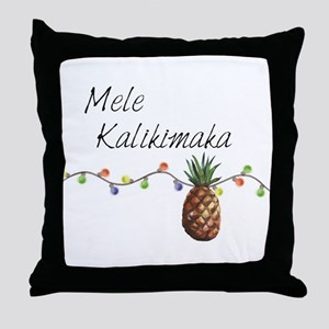 Mele Kalikimaka - Hawaiian Christmas Throw Pillow