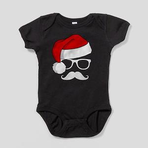 Christmas Mustache Nerd Body Suit