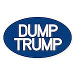 Dump Trump Blue Oval Sticker