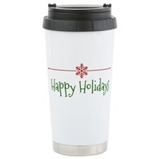 Happy Holidays Travel Mug