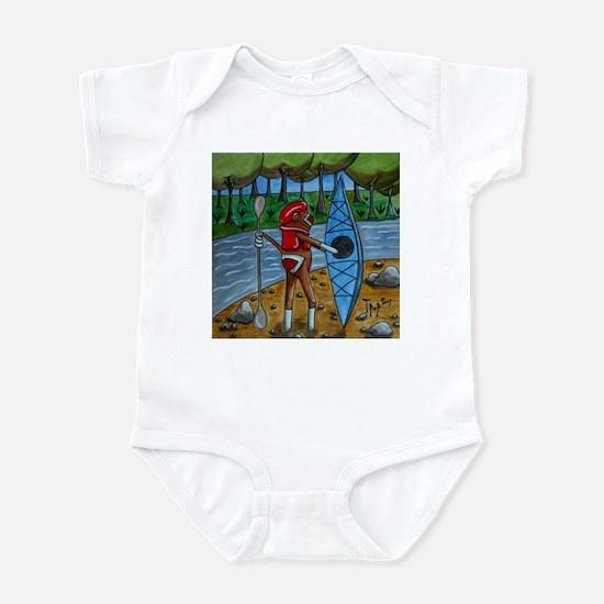 Kayak Sock Monkey Infant Bodysuit