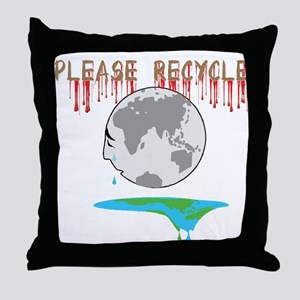 Please recycle Throw Pillow