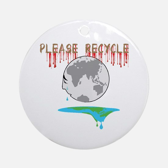 Please recycle Ornament (Round)