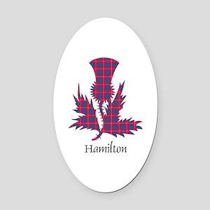 Thistle - Hamilton Oval Car Magnet
