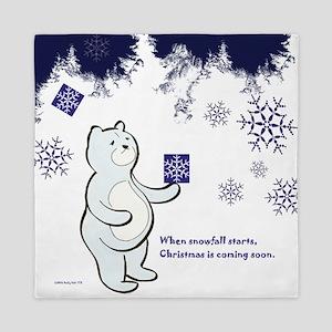 Bear receives a gift in Christmas Queen Duvet